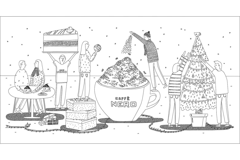 Christmas cup illustration