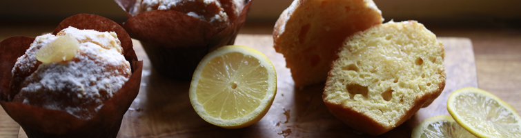 Sicilian Lemon Curd Filled Muffin