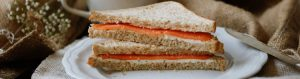 Smoked Salmon & Soft Cheese Sandwich