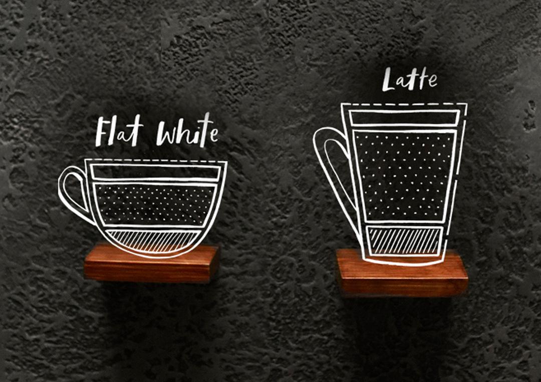 flat white versus latte