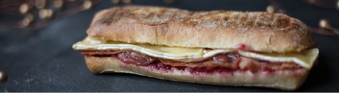 Brie, Bacon & Cranberry Panini