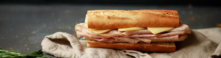 Ham & Cheese baguette
