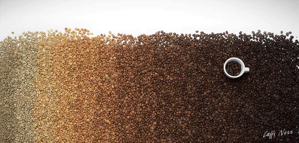 Gradient of Roast Coffee